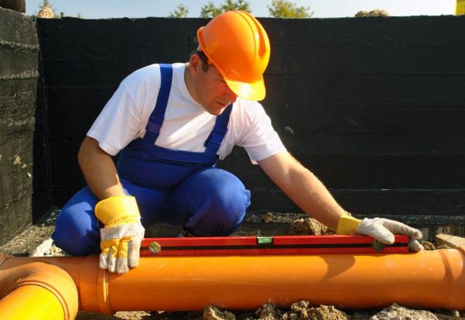уклон канализации на 1 метр