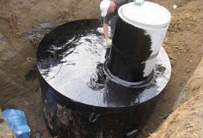 Наружная герметизация колодца